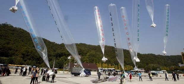 Corea del Norte y del Sur intercambian disparos por globos criticando al Norte