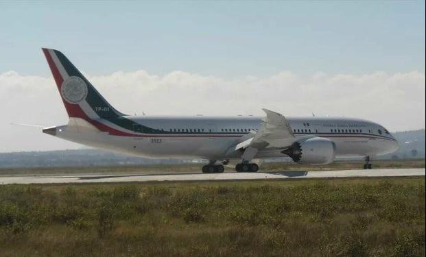 Así se ve el nuevo avión recién llegado de Peña Nieto