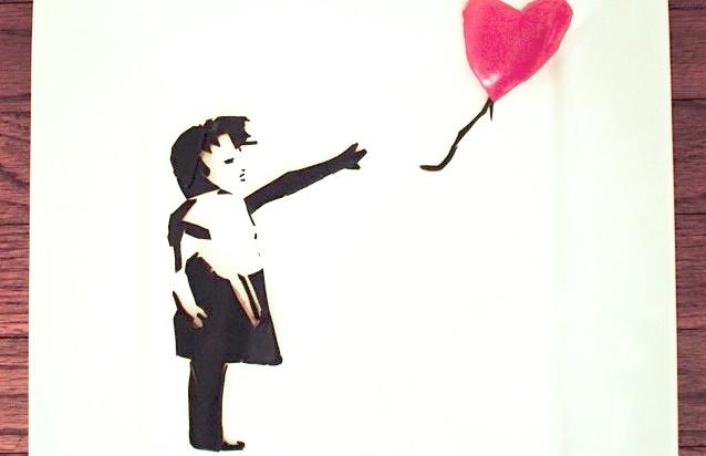 Así se ve el arte de Banksy recreado con comida