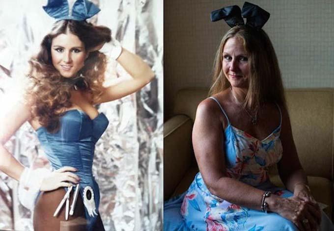 Fotógrafa muestra el antes y después de ex-modelos de Playboy
