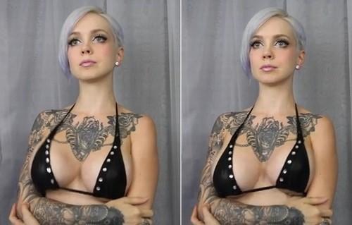 La modelo Sara X «interpreta» tema de Mozart con el movimiento de sus senos