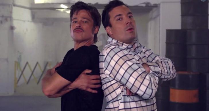 Y Brad Pitt baila breakdance ¡aaaasí!