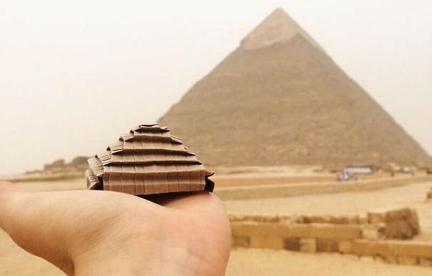 Este hombre es el amo del origami y sus creaciones lo demuestran