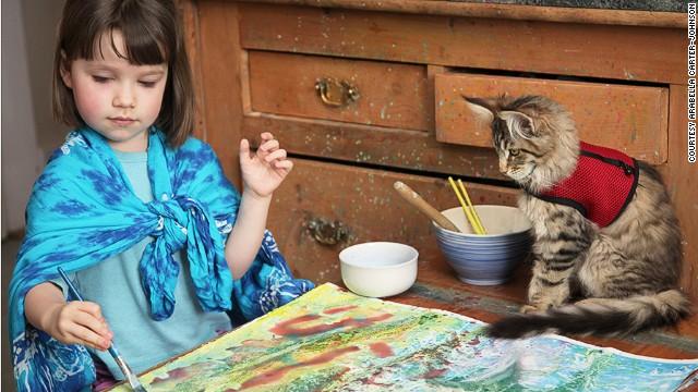 El arte de esta niña de 5 años lo podrías confundir por Monet