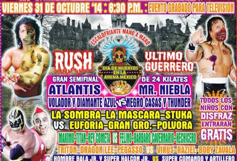 CMLL presentará funciones de Día de muertos en la Arena México