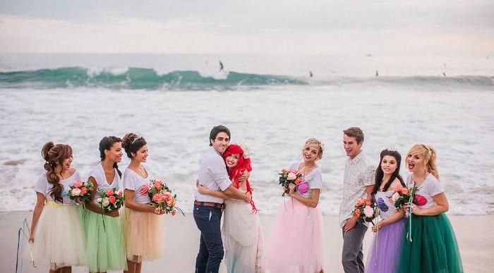 Mira las fotos de una boda que inspiró sus detalles en la película de La Sirenita