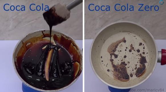 Es impactante la diferencia de azúcar entre la Coca-Cola y la Coca-Cola Zero