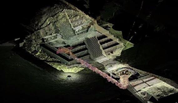 Descubren un túnel debajo de Teotihuacán que fue sellado hace 2,000 años
