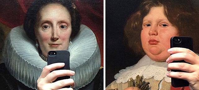 Diseñadora hizo que estos retratos históricos se tomaran una selfie