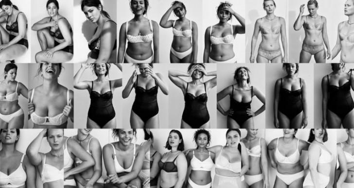 Vogue lanzó una editorial de lencería con modelos de talla grande