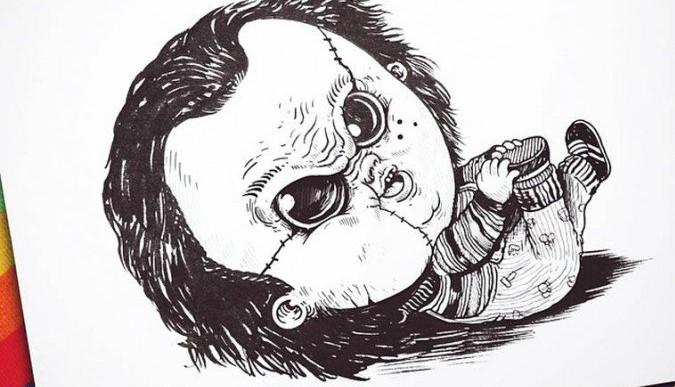 Baby Terrors: Famosos personajes de terror rediseñados como bebés