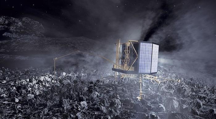 Philae descubre moléculas orgánicas sobre su cometa