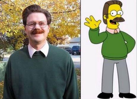 Personas que parecen personajes de caricaturas