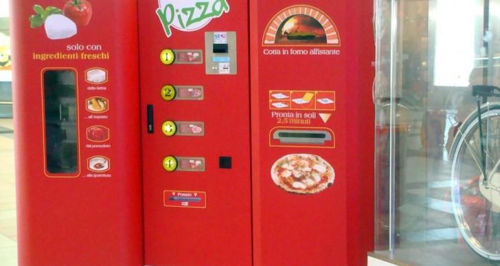 Esta máquina vendedora te da una pizza fresca en tres minutos