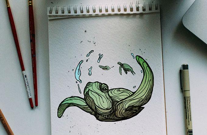 Mira el abecedario ilustrado con animales por Kyson Dana