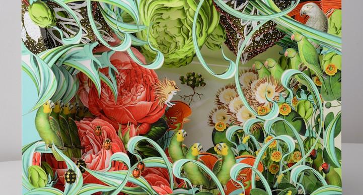 Increíbles obras de papel reimaginan la belleza de la naturaleza