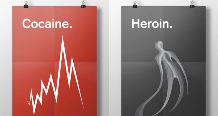 Esta artista ilustró  los efectos de las drogas con carteles minimalistas