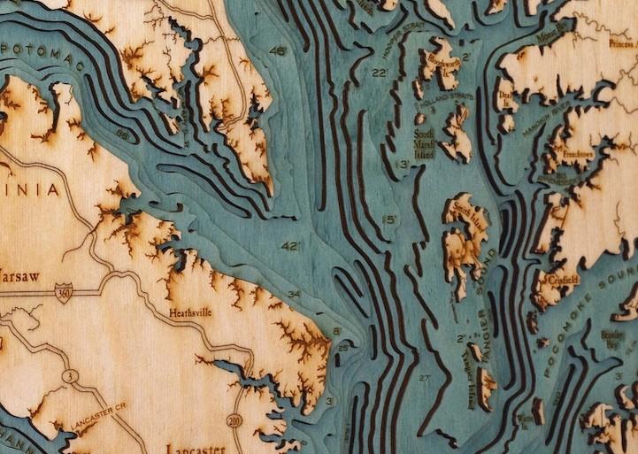 Estos mapas en 3D muestran los paisajes en el fondo del mar