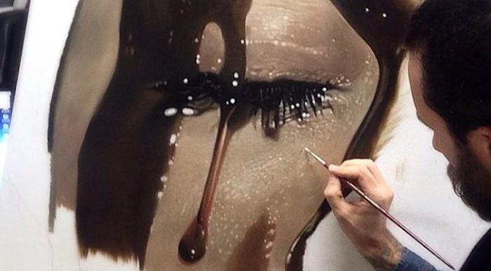 Mira la impresionante pintura hiperrealista de Mike Dargas