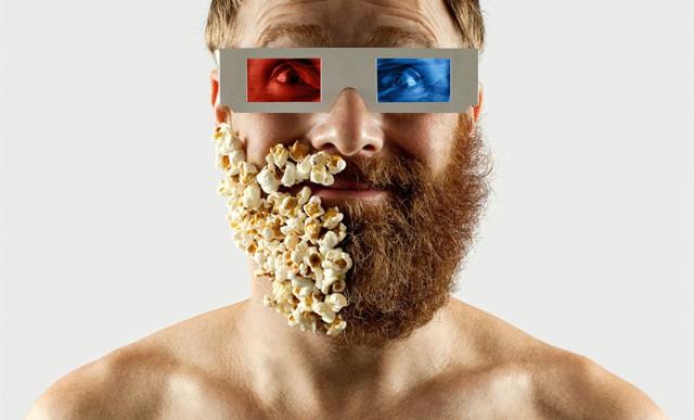Este fotógrafo se tomó unas fotos surreales con media barba