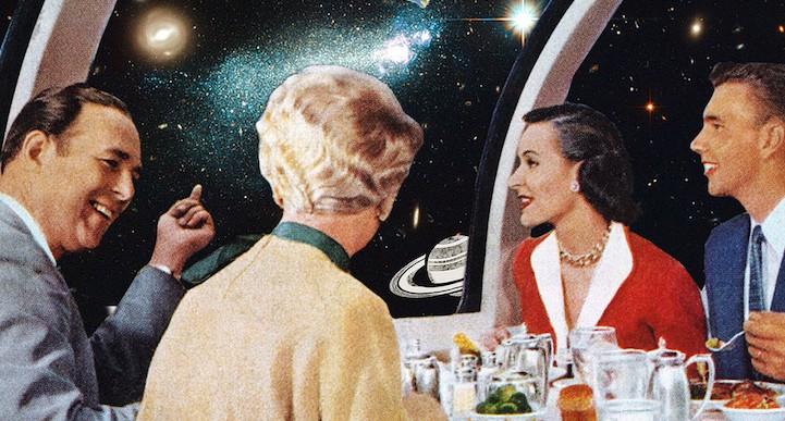Increíbles collages hechos con fotos vintage
