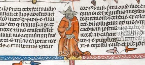 Descubren una ilustración idéntica a Yoda en un manuscrito del siglo XIV