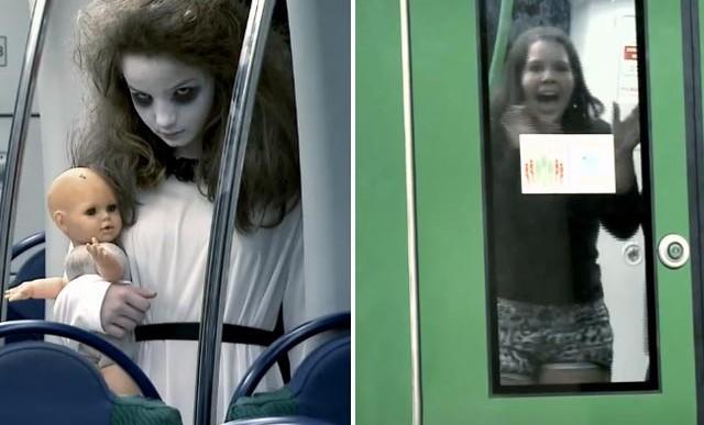 Los que hicieron la broma de zombies, vuelven con un fantasma dentro del metro