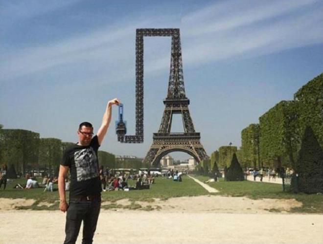 Pidió ayuda para que lo retocaran junto a la Torre Eiffel y este fue el resultado