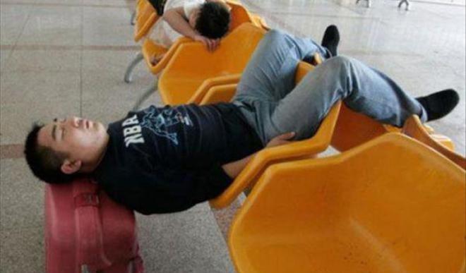 20 personas que se quedaron dormidas sin importar dónde ni cómo