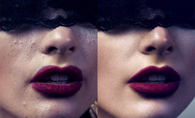 Video muestra ediciones en la foto de una modelo para portada de revista