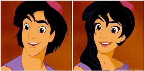Así se verían 11 príncipes de Disney si fueran princesas