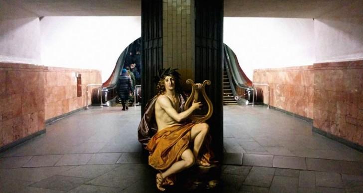 Los personajes de la pintura clásica conviven en nuestro mundo moderno