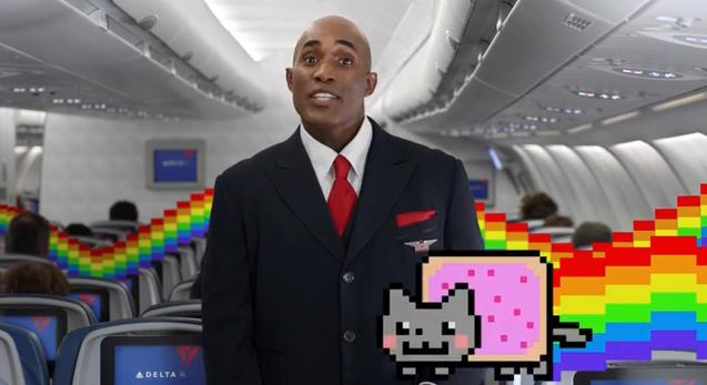 Todos los memes que puedas imaginar están en el video de seguridad de Delta