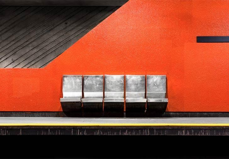 La arquitectura del metro retratada por Chris M Forsyth
