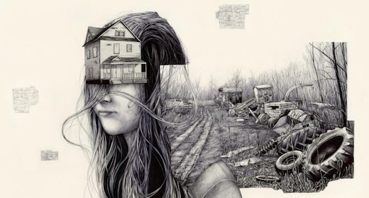 Estos bocetos muestran los recuerdos como objetos tangibles