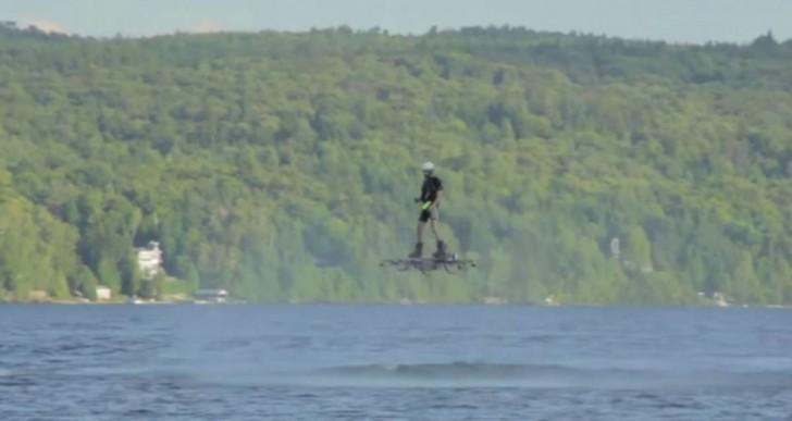 Este hoverboard rompió el récord mundial de distancia recorrido