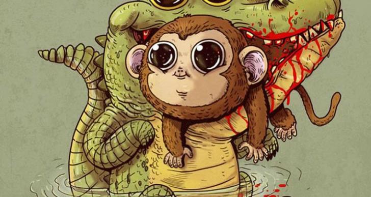 8 tiernos depredadores ilustrados por Alex Solis