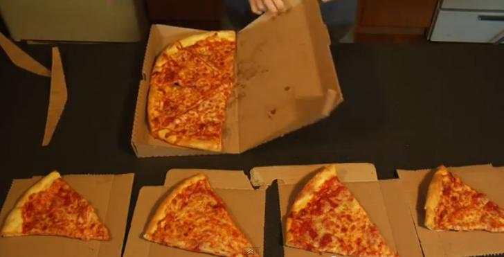 Esta super ingeniosa caja cambiará la forma que comes pizza
