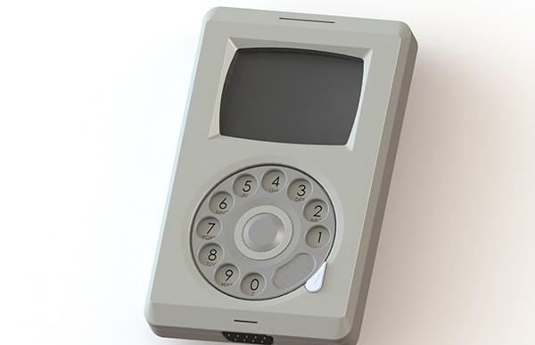 Concepto para el Macintosh Phone para la gente vintage