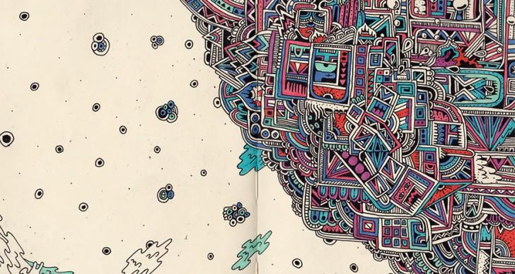 Artista revela dibujos extremadamente detallados en su cuaderno