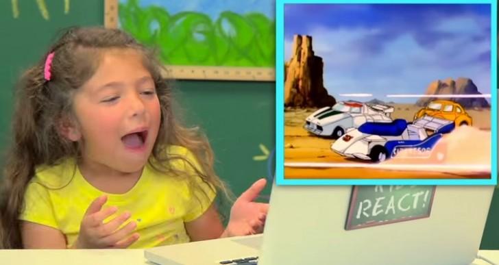 Así reaccionan los niños cuando les enseñas la primera caricatura de Transformers
