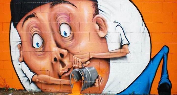 Impresionantes murales que interactúan con la calle donde se encuentran