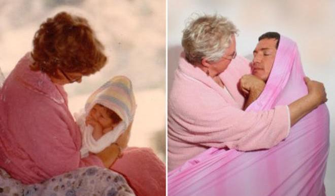 Antes/Después: 21 fotos de familia recreadas de forma grandiosa