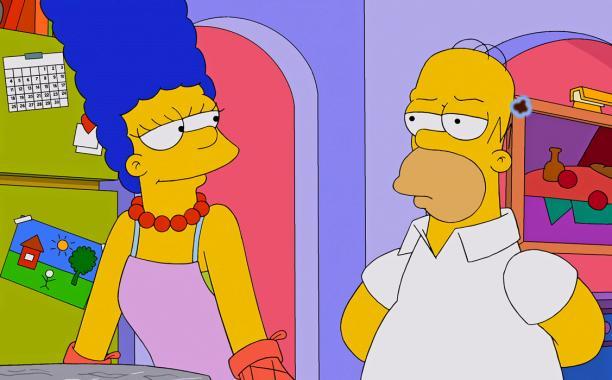 Marge y Homero Simpson desmienten el rumor de que se separarán