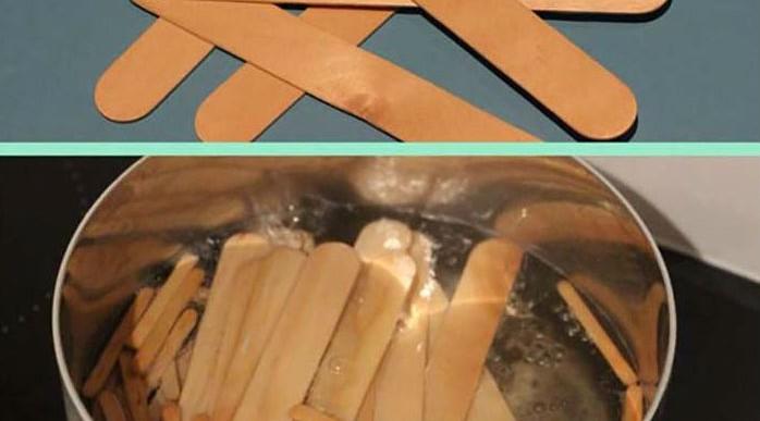 Mira lo que sucede cuando pones a hervir palitos de madera