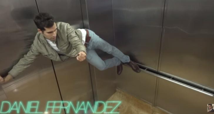 En este divertido elevador te ríes o te sientes incómodo