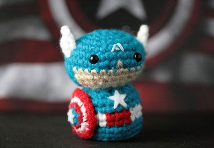 Adorables superhéroes en crochet por Geeky Hooker