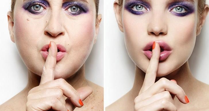 Divertida parodia a las imágenes de alta moda pero con una mujer común
