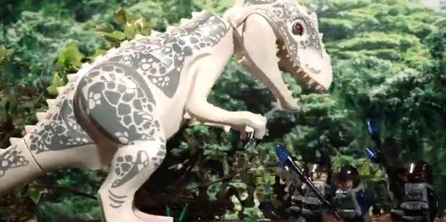 Jurassic World contado en 90 segundos con LEGOs