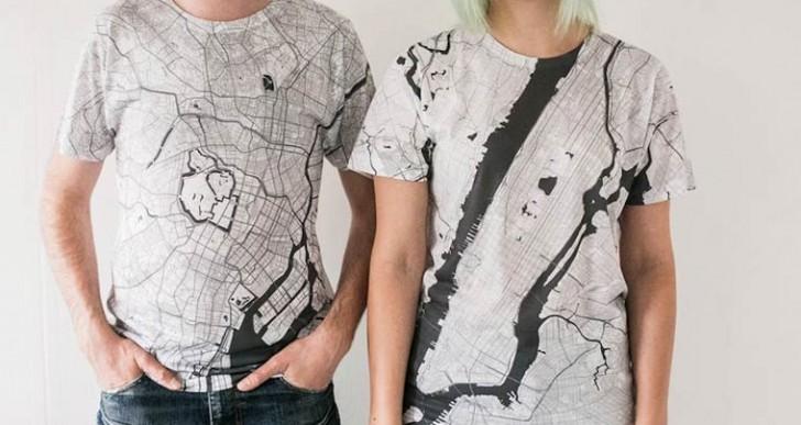Citee Fashion: Mapas de las grandes ciudades impresos enplayeras